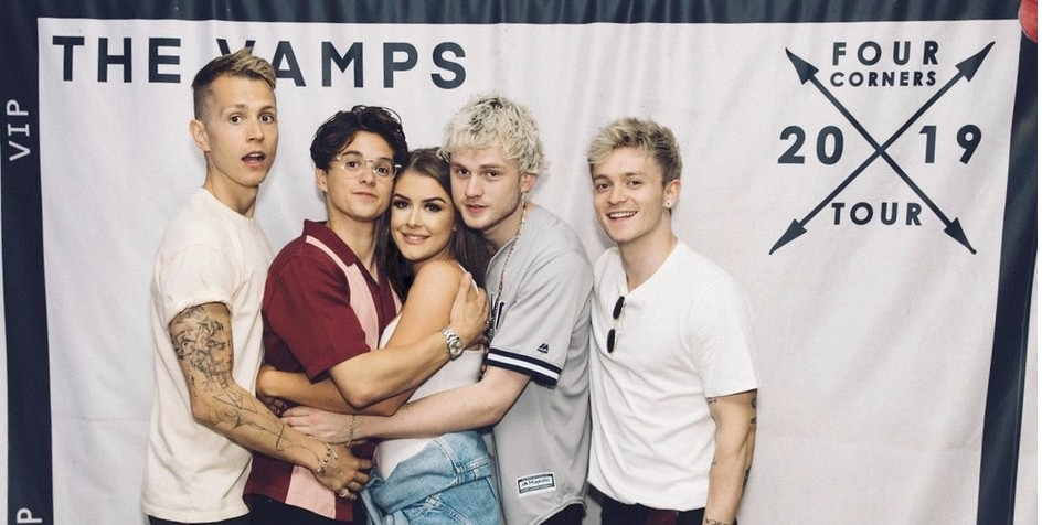 The Vamps' most dedicated fan got to see the band SIX times on their UK tour