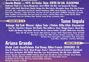 Coachella lineup announced! 21 years, 4 female headliners 🤦♀️