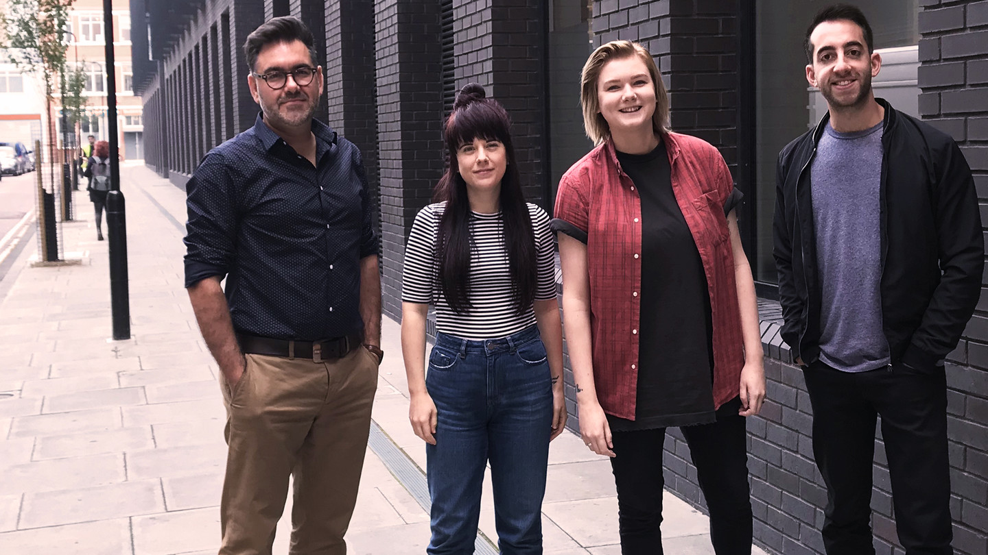 Vibe bolsters team with three senior appointments. Left to right: Cornel Lazar, Chelsea Sargautis, Steph Maxwell, Daniel Gould.